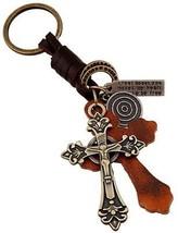 Retro Handmade Brown Weave Leather Keychain Organizer Car Office Home K... - $25.38