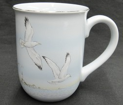 Otagiri Nautical Mug Light Blue w Seagulls Ocean Lighthouse for Gibson C... - $21.77