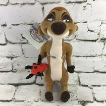 "Vintage Disney Store The Lion King Timon 11"" Plush Meerkat Bug In Hand 9... - $19.79"
