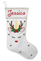 Unicorn Christmas Stocking - Personalized and Hand Made Unicorn Christma... - $32.00