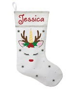 Unicorn Christmas Stocking - Personalized and Hand Made Unicorn Christma... - $30.40+