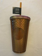 Starbucks 50th Anniversary 16oz Grande Studded Tumbler Gold/Copper In Ha... - $64.35