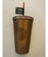 Starbucks 50th Anniversary 16oz Grande Studded Tumbler Gold/Copper In Ha... - $64.35
