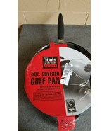 Tools of the Trade Basics Black Aluminum Non Stick Covered Chefs Saute Pan - $17.81