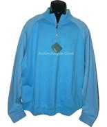 NWT BOBBY JONES Golf  L Pima cotton pullover 1/4 zip monogram neck sharp... - $77.59