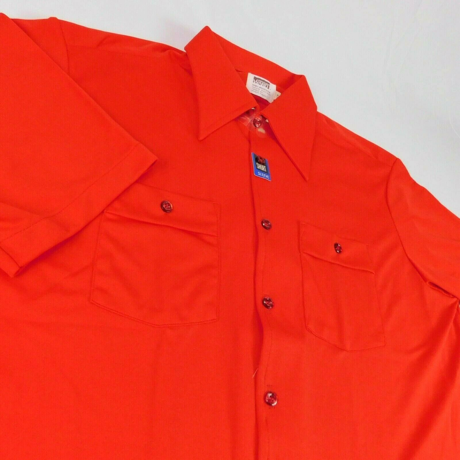 Primary image for VTG Montgomery Ward Mens Red Polyester Short Sleeve Shirt Sz 17