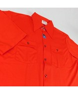 VTG Montgomery Ward Mens Red Polyester Short Sleeve Shirt Sz 17 - $24.99