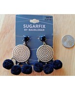 1 Sugarfix By Baublebar Earrings Gold and Black Round Balls New - $10.39