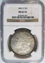 1883 O Silver Morgan Dollar NGC MS 63 Proof Like PL Toned Toning Album E... - $189.99