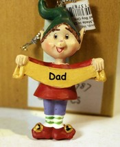 CHRISTMAS ORNAMENTS WHOLESALE- RUSS BERRIE- #13787 - 'DAD'-  (6) - NEW -W74 - $5.83
