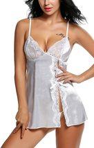 Satin Lingerie Sexy Sleepwear for Women Lace Babydoll S-XXL image 4