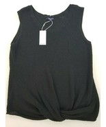 new Splendid women top shirt blouse vest RS0330X black L MSRP - $31.54