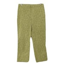 Ann Taylor LOFT Womens size 8 Stretch Crop Pants Slacks Green White Flor... - $22.76