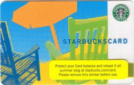 Starbucks 2007 Orange Umbrella Front Porch Collectible Gift Card New No Value - $5.99