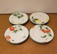 """Williams Sonoma Citrus Grove 8.25"""" Salad / Dessert Plates Set of 8 Fruit... - $84.15"""