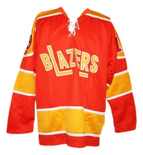 John mckenzie  19 philadelphia blazers retro hockey jersey orange   1
