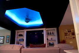 LED ceiling lights that bend around corners - color control with Smart P... - $49.49+