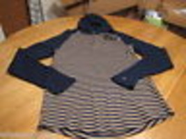 Men's Hurley long sleeve hoodie shirt XL pullover dawner thermal blue TN... - $24.05