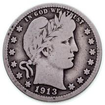 1913 25C Barber Quarts En Très Bon État, Naturel Couleur - $57.15