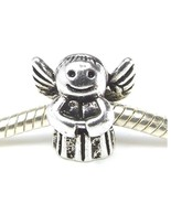 Angel with Wing Antique Silver Tone Large Hole Bead for European Charm B... - $4.50