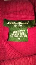 Long Sleeve Sweater Medium Eddie Bauer Red TF067/ALS - $12.93