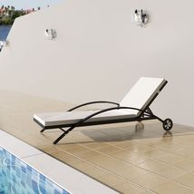 Patio Wicker Chaise Lounge Sun Bed Daybed Sofa ... - $179.99