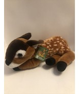 "Fiesta Plush Fawn Brown Spotted Baby Deer Sitting 10"" Stuffed Animal Toy... - $13.95"