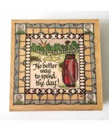 Golf Lover's Rubber Stamp No Better Way to Spend the Day Hampton Art Gol... - $14.84