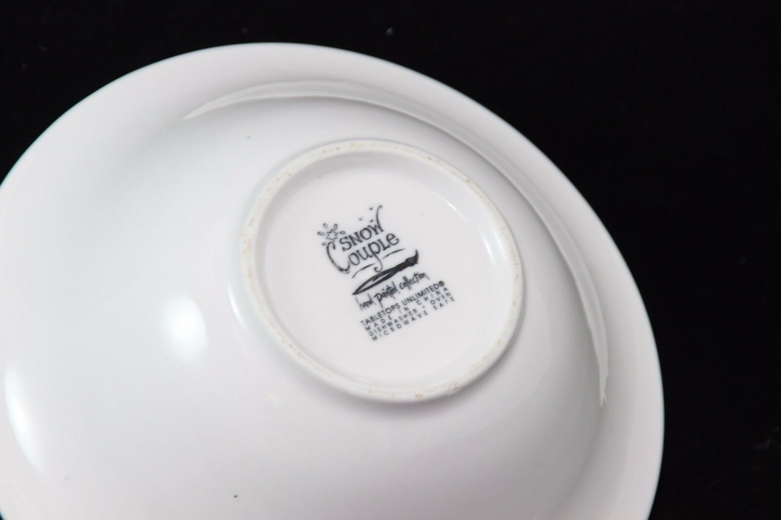 Tabletops Unlimited Snow Couple Soup Cereal Bowl Christmas image 4