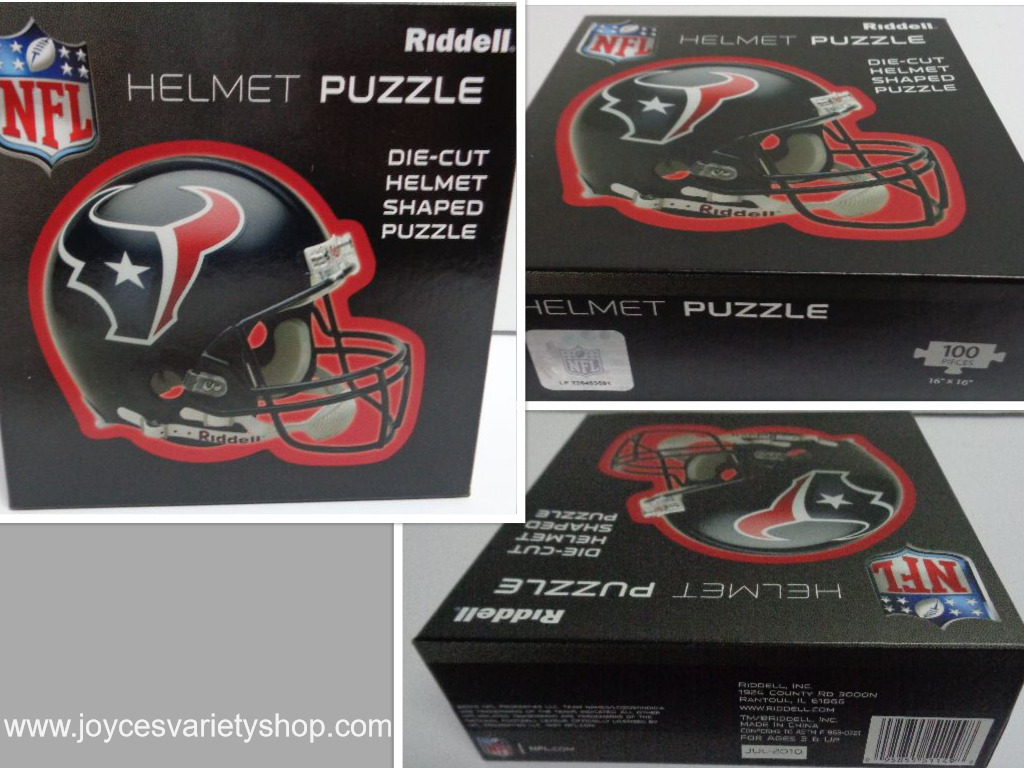 Houston Texans NFL Football Helmet Puzzle NIB 100 Pieces Age 3+