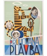 Movie Poster STRIPED TRIP 1961 Josef Hvozdensky Artwork Nautical Design - $288.00