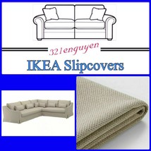 Ikea Farlov Sectional Beige Flodafors Slipcover Cover LEFT-SIDE - $299.88