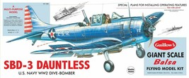 Guillow's Giant Balsa Wood Model Airplane Kit WWII SBD-3 Dauntless GUI-1003 - $78.21