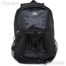 NEW Black Ripcord Lightweight Unisex Fashion Backpack Shoulder Book Bag - $23.99