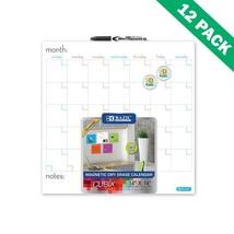 Dry Erase Board Calendar, Wall 14x14 Magnetic Dry Erase Calendar Board S... - $150.89