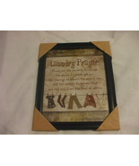 Laundry Prayer Frame Wall Decoration 9 Inches X 11 Inches - $19.79
