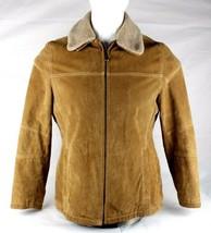 Columbia Sportswear vintage womens jacket leather zipper brown lined siz... - $44.98