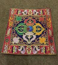 Tibetan double dorje silk brocade table cover/ altar cloth/ shrine place... - $13.86