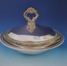 Silverplate Covered Vegetable / Casserole Dish w/ Gadroon Edge & Pyrex Bowl  - $29.00