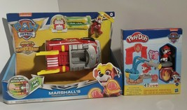 Paw Patrol 2 Toys, Marshalls Fire Truck & Rescue Marshall's Playdough, New - $26.11