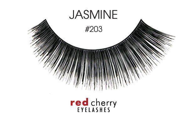 abd5a574954 NIB~ Red Cherry False Eyelashes Fake Lashes Strip Black Human Hair YOU  CHOOSE