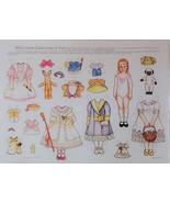 Clara Comes To Visit Paper Doll Theresa Borelli + Cardstock + Envelope New  - $7.49