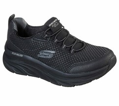 Skechers Black Shoe Women Sport Comfort Walker Memory Foam Cushion Slipo... - $47.99