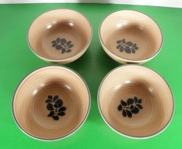 Pfaltzgraff FOLK ART Soup Cereal Bowl (s) LOT OF 4 Design In Made in USA #600 - $24.70