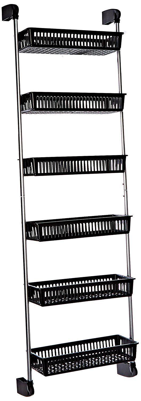 Over The Door Basket Shelf Closet Pantry Storage Kitchen Bathroom Rack Organizer