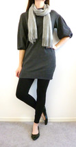 VINCE Sweater Dress Tunic Top Mini Size S Gray Bell Sleeve - $1.010,50 MXN
