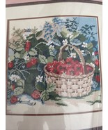 Vtg Wild Strawberries 1988 Dimensions From The Heart Needlepoint Kit - $14.52