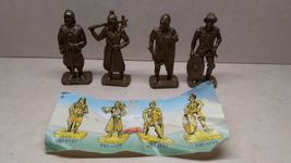 Kinder - K95 107-110 Hun warriors - complete set + paper - surprise eggs - $11.00
