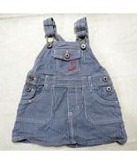 OshKosh Bgosh Vestbak Baby Denim Overalls 12 Months Stripes Skirt Infant - $21.99