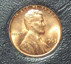 1963 Lincoln Memorial Penny MS65R #0313 - $0.89